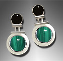 onyx and malachite earrings
