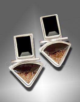palm wood earrings