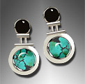onyx and turquoise earrings