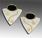 silver gold earrings
