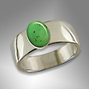 silver chrysoprase ring