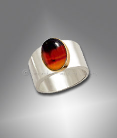 men's Montana agate ring