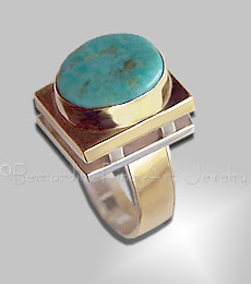 Turquoise, Sterling, 14K