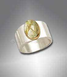 men's rutilated quartz ring