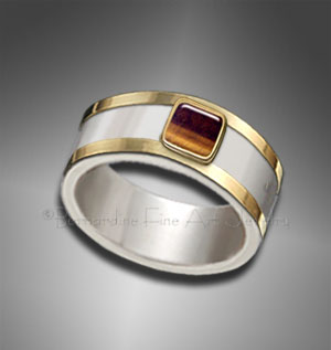 mens gold/silver ring