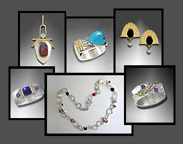 Handmade custom jewelry fine art jewelry designer gemstones handmade designer art jewelry in gold and sterling silver with gemstones for those who desire unique wearable art or for those who want a custom created mozeypictures Gallery