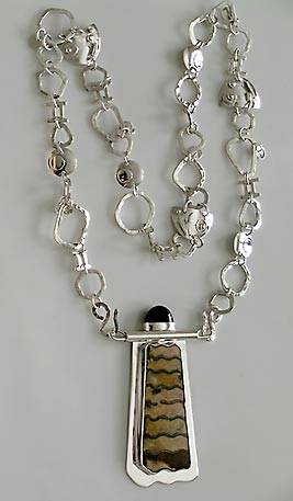 handmade silver chain with pendant