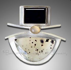 Montana agate pendant