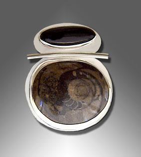 Ammonite pendant/slide