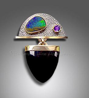 Boulder opal slide/pendant