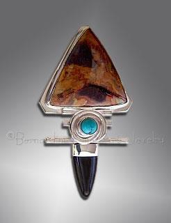 onyx and Pietersite pendant