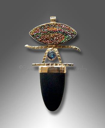 pyrite drusy pendant