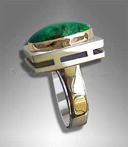 cuprite malachite ring