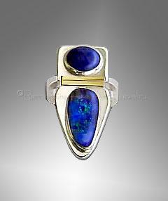 lapis opal ring