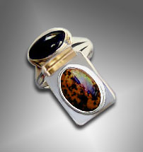 designer obsidian ring