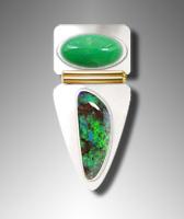 chrysoprase and Boulder Opal Ring Design