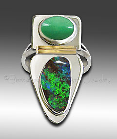 opal chrysoprase  ring