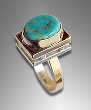 turquoise, 14k, sterling ring