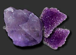 rough amethyst crystals