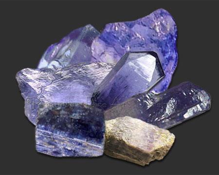 tanzanite crystals