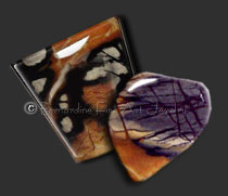 Picasso marble cabochons