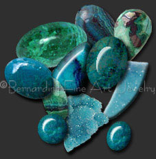 chrysocolla  and chrysocolla drusy