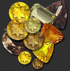 Faceted Citrines