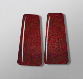 red dinosaur bone pair