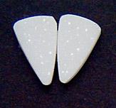 white druzy pair