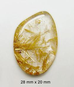 rutilated quartz cabochon