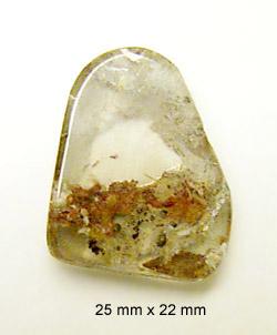 rutilated quartz cab